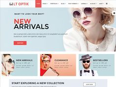 LT Optik is a Free Virtuemart Joomla Template tailored for eyeglasses, sunglasses, eyewear, contact lenses and other eye extensions online. This is the multipurpose solution for selling eyewear product through online store and shop. The look of this theme is aesthetic, minimal clean, bright, simple and excellent.