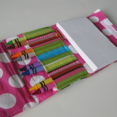 Great Idea! :) Crayon Holder Coloring Wallet  Owls  35x5 by TurnbowDesigns, $8.00