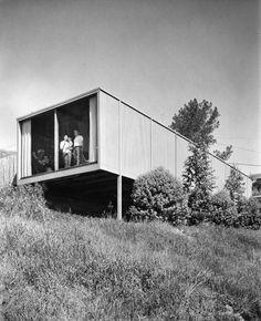 "Delawie Residence #1 ""Boxcar House"" (1958) in Mission Hills - Hower Delawie"