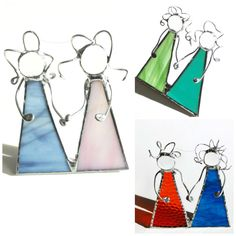 Best friends, stained glass suncatcher, bff, ornament, gift, mom and me, sisters, made to order, customizable, best friend gift by DesignsStainedGlass on Etsy https://www.etsy.com/listing/176456527/best-friends-stained-glass-suncatcher