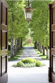 Love a tree lined driveway ....House in Salzburg, Austria – Gallery | Robert Couturier | décor, architecture & design: welcome home!