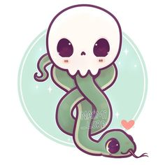 new Kawaii dark mark because I feel like I've upped my Danger Noodle game this year 😂😂💚🐍💚 I really need to try and get some enamel pins Fanart Harry Potter, Images Harry Potter, Arte Do Harry Potter, Harry Potter Stickers, Cute Harry Potter, Harry Potter Artwork, Harry Potter Drawings, Harry Potter Wallpaper, Harry Potter Fandom