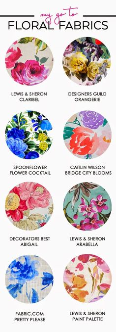 My Go To // Floral Fabrics | the Hunted Interior | Bloglovin'