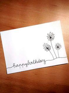 Happy Birthday - SketchNotes & Sk… - # everything… - birthday ideas - Diy Gifts Happy Birthday Hand Lettering, Calligraphy Birthday Card, Happy Birthday In Calligraphy, Handlettering Happy Birthday, Calligraphy Cards, Creative Birthday Cards, Tarjetas Diy, Birthday Card Drawing, Bday Cards