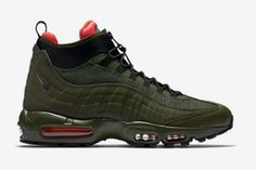Nike Air Max 95 SneakerBoot Dark Loden. Available now.  http://ift.tt/1MGTmnz