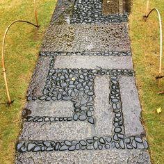 Garden path at the Nezu Museum garden in Tokyo