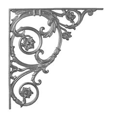 vintage  iron corbels | Cast Iron Shelf Brackets At Your Wrought Iron Specialty Shop