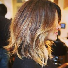 Warm and strawberry blonde ombre/grow out look. My favourite look