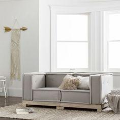 Pottery Barn Sofa, Pottery Barn Teen, Lounge Seating, Lounge Areas, Playroom Seating, Lounge Furniture, Bedroom Furniture, Diy Furniture, Sleeper Sofa