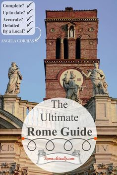 Do you want to visit the city of Rome but overwhelmed with the number of historical sites? Click here to see Rome best guide with cultural, food, hotels and transport suggestions. Being Italian and living three decades of my life in Rome, I picked the best sites and tips for you. It is not the average guide on the web, it's detailed, accurate and the most up-to-date Travel Guide to Rome. So, relax and grab a cup of coffee to learn how to best explore eternal Rome.