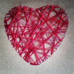#manualidad #romántica #corazón de hilos