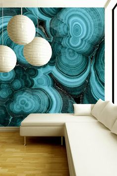 Stunning green marble pattern of Agate wallpaper from  Brenda Houston  Design.