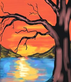 Admire and Like this #Amazing #Colorized #Sketch by #Tyler C. #Art #Sunset #Tree  Create your own sketches when you download Colorized today. Start here: http://colorized.by
