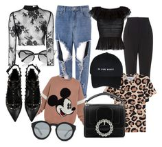 """"""""""" by calypsotabouret on Polyvore featuring mode, Fendi, Glamorous, Topshop, Marc by Marc Jacobs, Alexander McQueen, Valentino et Marc Jacobs"""