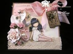 I received my new Gorjuss stamps from the UK the other day and was inspired to create a super girly Valentine's Day card using my beautiful . Shabby Chic Cards, 3d Cards, Mail Art, Amigurumi Doll, Paper Dolls, Holiday Crafts, Making Ideas, Cardmaking, Birthday Cards