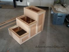 3) Making a Fancy Dog Step – Installing Trim and Finishing | Adventures In DIY