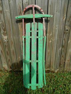 Vintage Sled Rustic Iron and Wood Antique by 3sisterstreasures