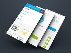 Lighter Footprints Mobile UI Screens by Adam Butler