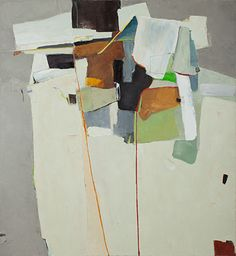 Caroline Marshall: Paintings #art #abstract #paint. Cool color blocking on an angle.