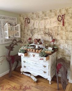 Sweet Setup + Display from a Snow White Enchanted Forest Birthday Party via Kara's Party Ideas KarasPartyIdeas.com (7)