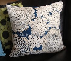 Milli Home Decorative Pillows : Photo: Milli Lembke http://formelledesign.blogspot.com/ / #lace #accessories What to do with old ...