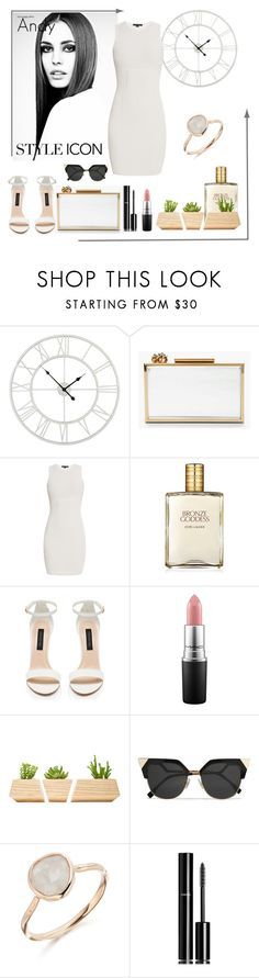 """Classy White"" by andyts ❤ liked on Polyvore featuring Lanvin, Alexander Wang, Estée Lauder, Forever New, MAC Cosmetics, Dot & Bo, Fendi, Monica Vinader and Chanel"