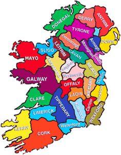 Ireland – County By County | Irish American Mom