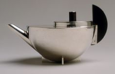 Tea infuser and strainer, ca. 1924  Marianne Brandt (German, 1893–1983)  Silver and ebony