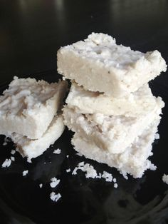 Coconut Banana Bars: sugar-free & grain-free recipe with options for sweeter versions.   by Sarah at Kelly Gene
