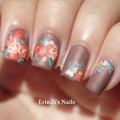 Floral nails  @Erin Zeiler