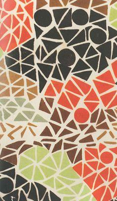 Sonia Delaunay, Geometric Textile Pattern via Printsource