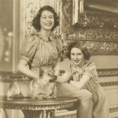 Princess Elizabeth and Princess Margaret. Royal Sisters.