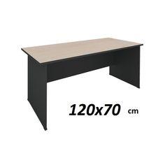 Γραφεία : Γραφείο Dark Grey/Beech 120x70x74 cm ΕΟ126,01