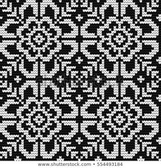 Traditional knitting pattern for Ugly Sweater, vector seamless pattern with Norw. Traditional knitting pattern for Ugly Sweater, vector seamless pattern with Norwegian Star. Double Knitting Patterns, Fair Isle Knitting Patterns, Knitting Charts, Knitting Stitches, Knitting Designs, Knitting Sweaters, Crochet Chart, Filet Crochet, Cross Stitch Designs