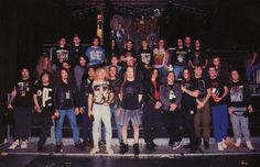 Here's a lovely shot of Death, Pestilence, Dismember, Cannibal Corpse & Napalm Death Rock Y Metal, Black Metal, Chuck Schuldiner, I Love Music, Napalm Death, Cannibal Corpse, Crust Punk, Stoner Rock, Extreme Metal