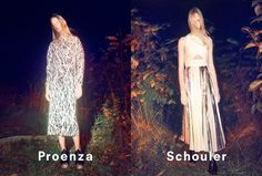 nice Proenza Schouler S/S 2014 | Charlotte Lindvig & Harleth Kuusik by David Sims [Campaign]