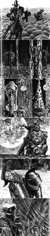 """Savva Brodsky illustration for Cervantes """"Don Quixote""""."""