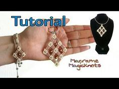 Macrame pendant tutorial: the Rhomboid pendant - YouTube