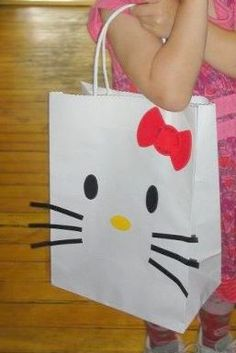 Hello Kitty Birthday Party gift bag.  Now I just need a little girl