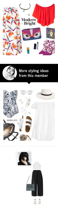 """""""modern + bright"""" by uncharged-batteries on Polyvore featuring MANGO, Fendi, Zara, Yves Saint Laurent, Maybelline and modern"""