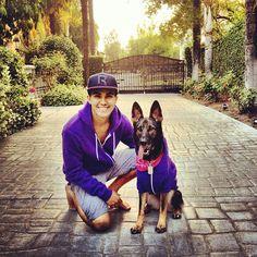 Carlos Pena & Sydney! They have purple hoodies!  HAHA