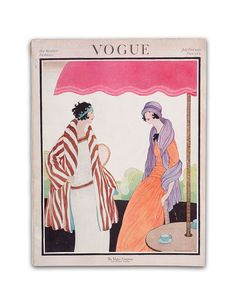 I own a selection of Vogue Magazines dating to 1922 and before. I photographed this cover with a professional camera & lighting setup. I have