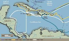 This is the route that Christoffel Columbus have sailed.