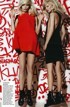 gangs of new york #Vogue #Abbey Lee Kershaw #Kasia Struss #Mario Testino