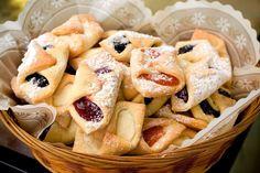 Flaky Polish Kołaczki Cookies Made With Cream Cheese Dough