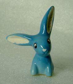 cute Walter Bosse blue porcelain rabbit bunny by Hotlavabeach