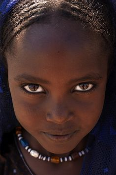 Afar girl's eyes, Danakil, Ethiopia by Eric Lafforgue #peopleoftheworld #photography