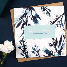 Une ambiance champêtre un brin vintage pour le faire-part de mariage Bleu de…
