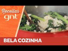 Confira uma do receita do Bela Cozinha que sua filha Flor adora: arroz integral com brócolis. Saudável e simples de preparar. Veja a receita também em texto:...