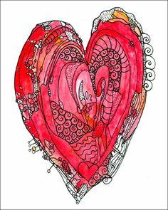 Love Heart Canvas Wall Art